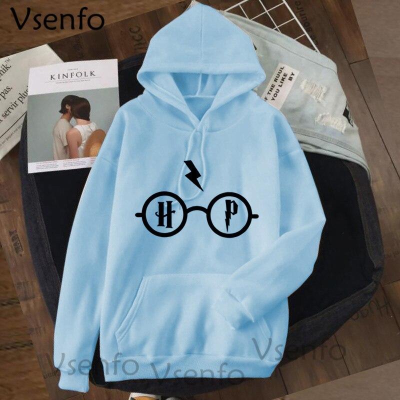 Harajuku Women's Hoodies Hary Style Glasses Print Sweatshirt Pullover Streetwear Moleton Feminino Vintage Clothes Drop 13
