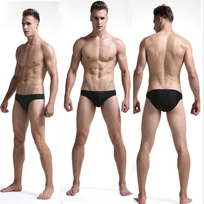 Meihuida Mens Trunks Erotic Low Waist Underwear Solid Breathable Ice Thong G-Strings Lingerie4 Color Gift