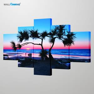 2020 New Fine Mural Fraser Island sunset scenery Art photography poster Modern home wall decoration Young man's drawing