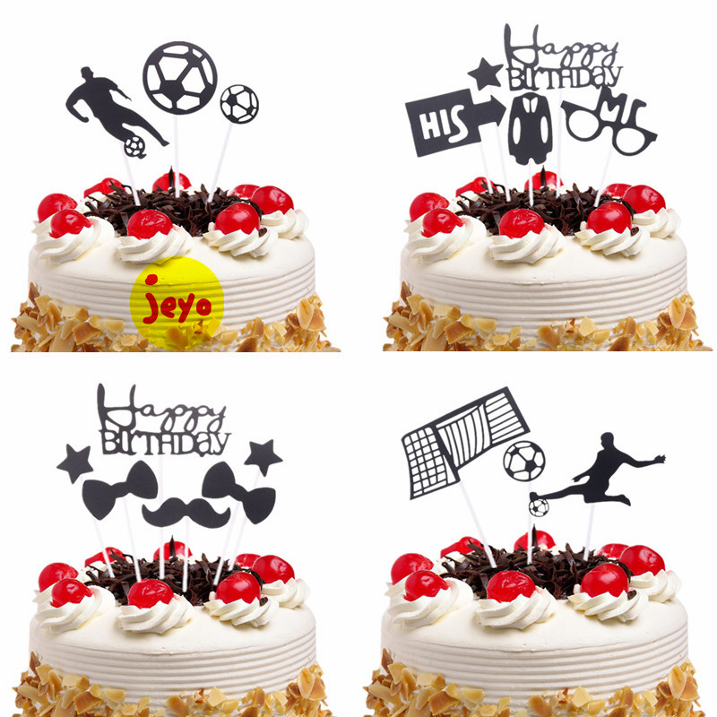 Happy Birthday Cake Topper Dad Birthday Party Cake Decoration Creative Cake Supplies