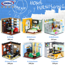 XINGBAO 01401 City Series 6 Styles The Furnishing House Set Building Blocks Bricks Compatible Legoings Educational Toys
