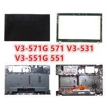 Laptop novo Para Acer V3-571G 571 V3-531 V3-551G 551 LCD Back Cover Tampa Superior/LCD Painel Frontal/Descanso de Mãos /Caso Tampa Da Base inferior