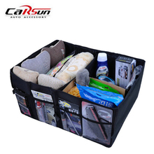CARSUN Car Trunk Organizer Oxford Storage Box Foldable Box Multi-Function  Stowing Tidying Storage Auto Trucks SUV Trunk Box Bag hot multifunction car storage box trunk bag vehicle tool box tools organizer bag for emergency box