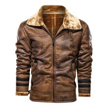 Jacket Winter Casual Brown Fashion New Warm Wool Lapel Thick Cashmere Loose Men