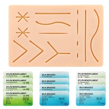 Suture Refill Kit, with Pre-Cut Wounds & Various Suture Threads and Needles, Starter Practice Suture Training Kit