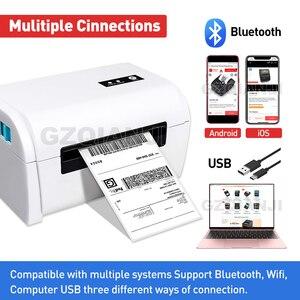 Image 3 - 4 인치 열 바코드 프린터 라벨 프린터 배송 Lable 프린터 100*100 / 100*150 UPS DHL 페덱스 배송 익스프레스 Lable 인쇄