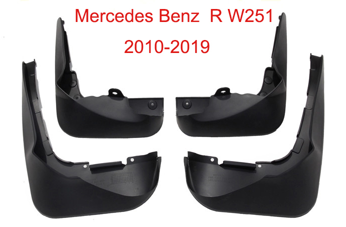 Auto Mud Flap Splash Guard Mudguard For Mercedes Benz R W251 2010 2019 car accessories 4pcs in Mudguards from Automobiles Motorcycles