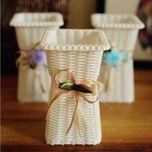ABS imitation wicker vase decoration rattan fake flower plastic arrangement home crafts installation