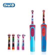 Oral B cepillo de dientes eléctrico para niños, cabezales de repuesto, recordatorio, cuidado de las encías suave, carga inductiva