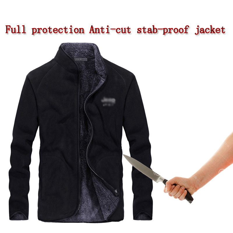 Men Self-defense Warm Jacket Fashion Self-defense Invisible Flexible Stab-proof Anti-chop Safety Police Fbi Protective Clothing