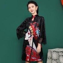 2020 dress women chinese dress qipao long cheongsam chinese traditional dress plus flowers print vintage dress oriental robes 2019 chinese traditional dress qipao women mandarin collar chinese cheongsams qipao oriental dresses embroidery qipao