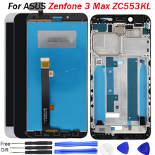 ZC553KL LCD For ASUS Zenfone 3 Max Display Panel Touch Screen Digitizer Assembly with Frame for ASUS ZC553KL Display LCD Replace