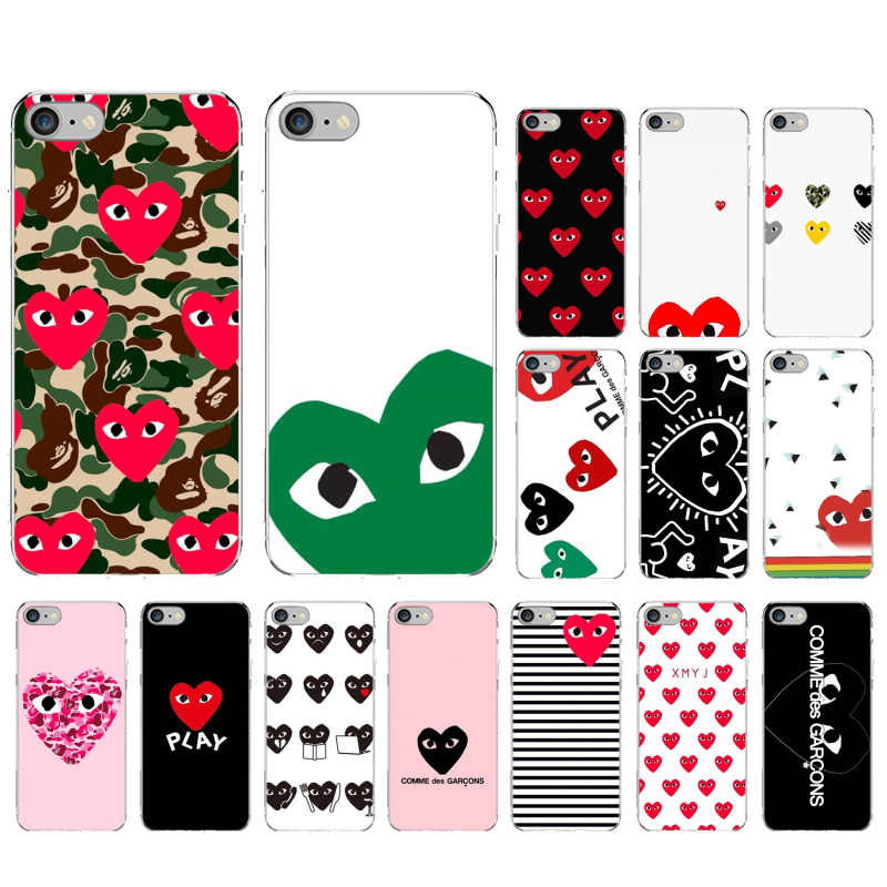 For Iphone 7 Plus Cdg Case Soft Tpu Back Comme Des Garcons