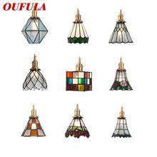 Oufula современный подвесной светильник светильники латунь светодиодный