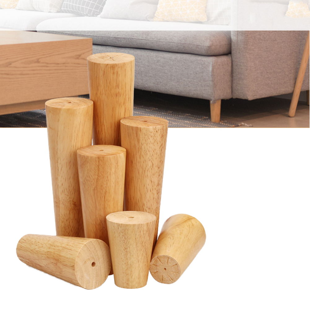 4Pcs Sofa Legs Furniture Stool Wooden TV Solid Coffee Table Feet Cabinet Parts Accessories Chair Non Slip