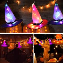 Supplie Witch-Hat Party-Decoration Play Halloween Children LED Adult Hanging-Night-Light