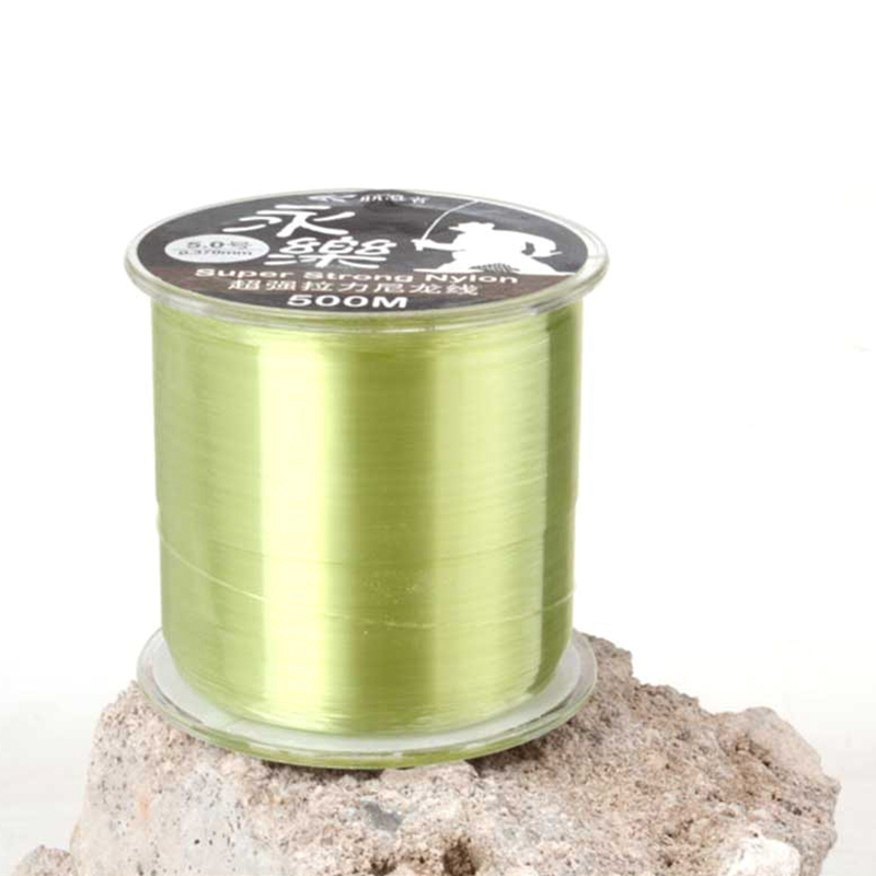 Nylon Fishing Line <font><b>8</b></font> Strands <font><b>500</b></font> Meters Smooth Durable Fishing Rope For River Lake Angling Light Green Fishing Accessories image
