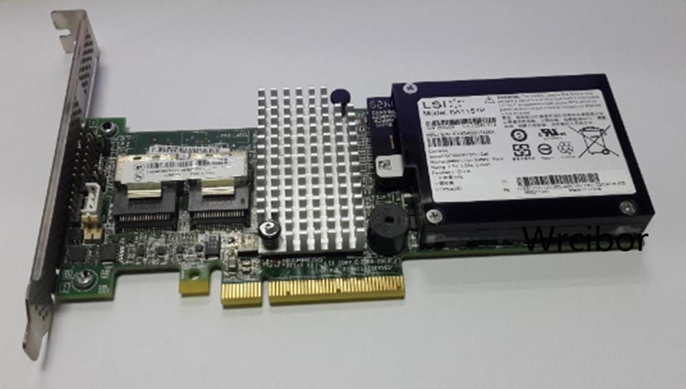 LSI MegaRAID SAS 9260-8i LSI00198 8 Port 512MB Cache SFF8087 6Gb RAID0.1.5 PCI-E 2.0 X8 Controller Card