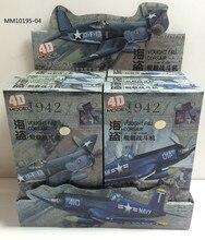6 Stks/set Wereldoorlog Ii De Verenigde Staten F4U Piraat Carrier Fighter 4D Montage 1/48 Militaire Vliegtuigen Model Speelgoed