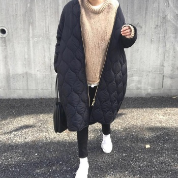 Cotton Padded Jacket Warm Winter Women Outerwear Tops 2020 Fashion Casual Female Long Coats Zipper Long Sleeve Overcoats Parka 2020 new fashion bandage jacket women long sleeve outerwear coats button zipper black celebrity party short jacket women