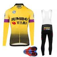 2019 Jumbo Visma Jersey de Ciclismo de manga larga MTB Ropa de bicicleta Ropa de Hombre Ropa Maillot mujeres bicicleta de secado rápido de otoño jersey conjuntos