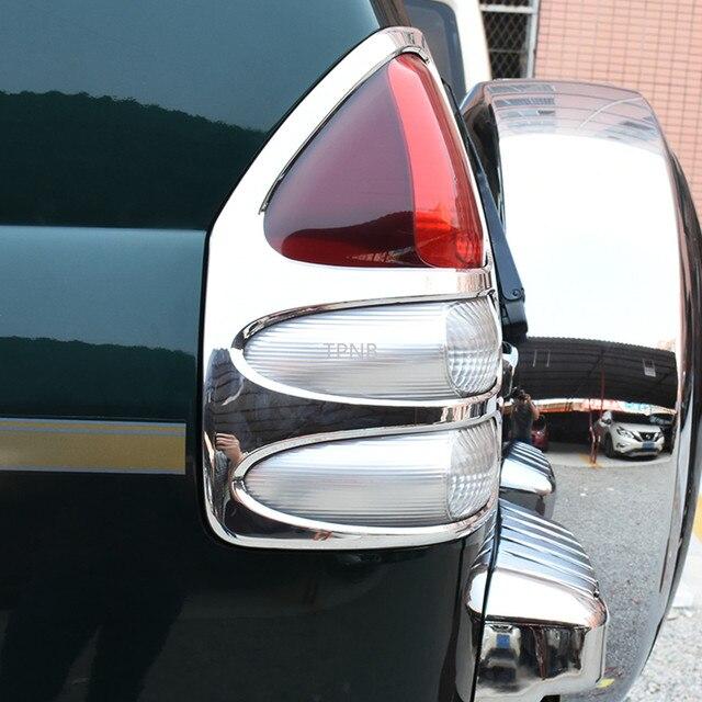 For Toyota Land Cruiser Prado 120 FJ120 2003 2004 2005 2006 2007 2008 2009 Rear Light Trim Hood Car Styling Accessories