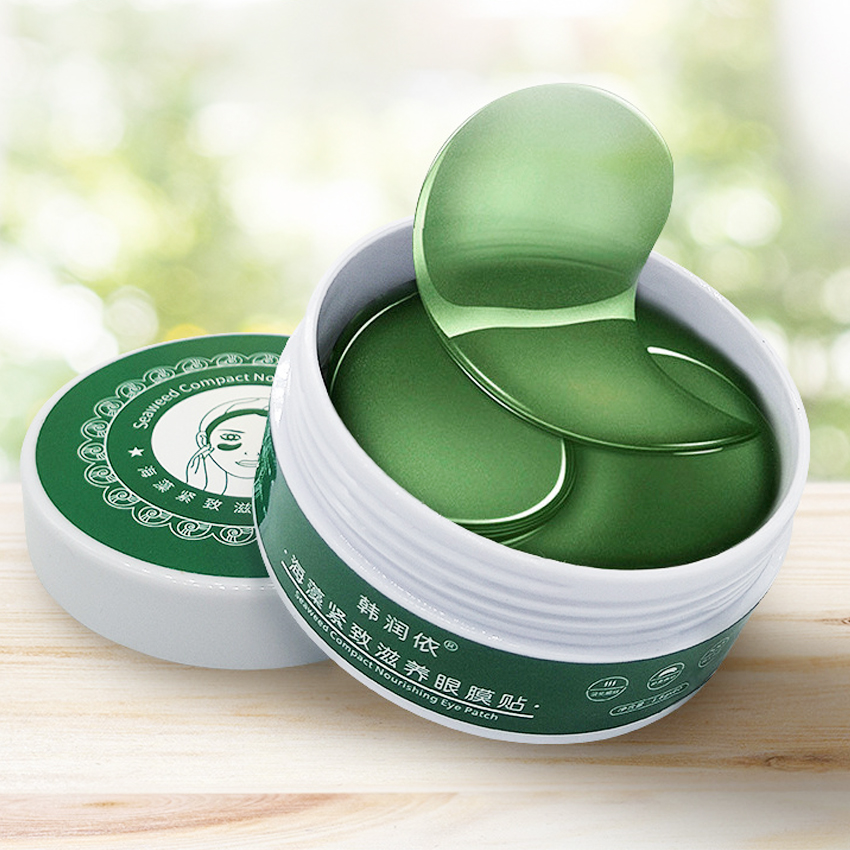 60PCS Moisturizing Collagen Eye Patch Seaweed Mask Against Wrinkles Dark Circles Care Eyes Bags Pads Ageless Hydrogel Sleeping P