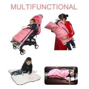 Image 2 - Multifunctional Baby Warm Sleeping Bag Baby Stroller Snow Cover Foot Cover Universal Stroller Accessories Leg Cover Winter