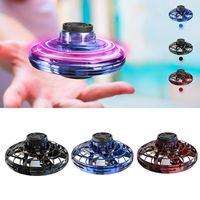Flynova Mini Drone LED UFO tipi uçan helikopter spinner parmak yükseltme uçuş Gyro Drone uçak oyuncak yetişkin çocuklar hediye