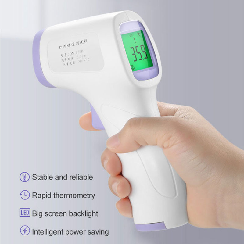 New Digital Infrared Thermometer Laser Temperature Meter Non-contact Pyrometer Imager Hygrometer IR Termometro Color LCD Light