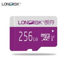 LONDISK 256 ГБ Micro SD карты UHS-I(U1)/UHS-I(U3)/Class 10(C10) microSDXC карта памяти с адаптером SD