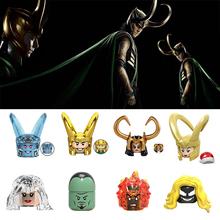 X0271 Marvel seria Avengers zabawki Loki Laufeyson Thor Odinson figurka akcesoria na głowę klocki dla dzieci klocki zabawki tanie tanio World Minifigs Unisex 6 lat Mały budynek blok (kompatybilne z Lego) Certyfikat X0271 Marvel Series The Avengers Toy Loki Laufeyson Thor Odinson