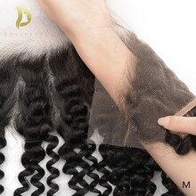 meche bresilienne cheveux humain 13x4 vague profonde dentelle frontale fermeture 100% brésilienne cheveux humains frontale hd transparent suisse dentelle frontale bouclés vague d'eau remy