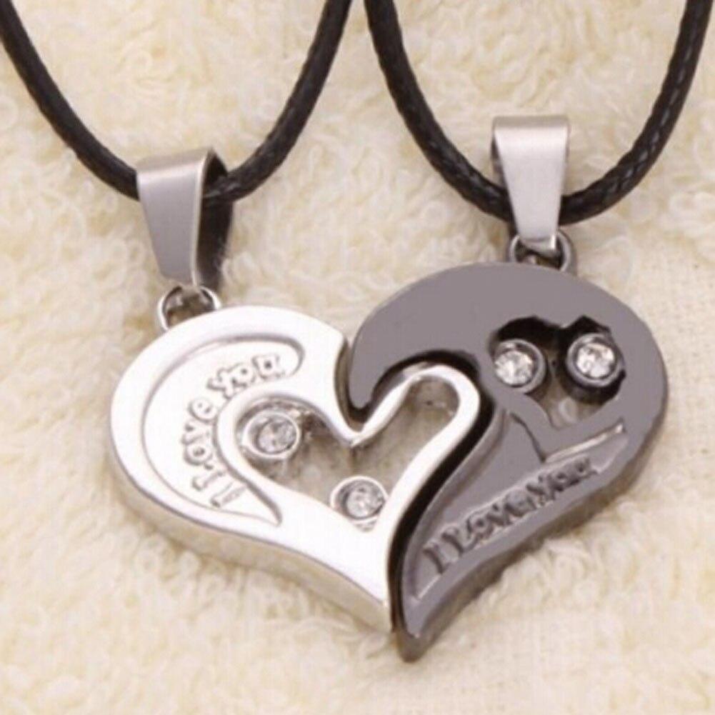 2 шт./компл. половина Стразы в форме сердца, любовь кулон Цепочки и ожерелья s кольца дружбы Подарочные Кольца для пары добрый друг, сплав, пара, Цепочки и ожерелья подарок|Ожерелья с подвеской|   | АлиЭкспресс