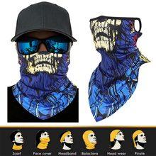 Capa de rosto balaclava cachecol pescoço esporte ao ar livre tubo de seda earloop unisex cabeça rosto pescoço gaiter escalada cachecol máscara facial