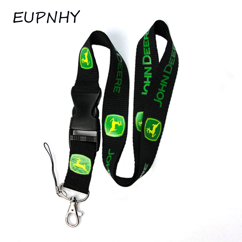 EUPNHY 1Pcs John Deere Car Logo Keychain Lanyard Detachable Neck Straps Lanyard Office ID Pass Card Holder Phone Straps