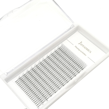 Russian Short Stem Pre Made Volume Fans 3d Eyelashes Mink Individual Cluster J/B/C/D Curl Lash Premade Eyelash Extensions Makeup 1