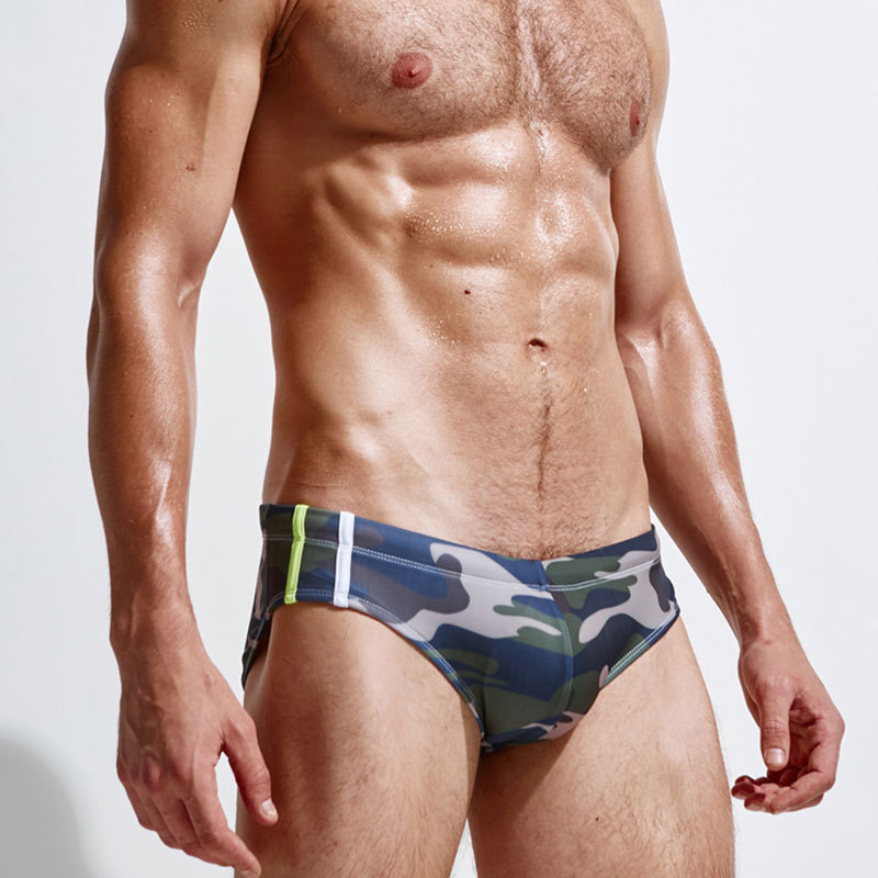 Friends For Fun Men Camouflage Swimming Pants Sexy Fashion MEN'S Swimsuit Hot Springs Pants Low Price