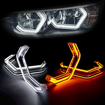 4Pcs M4 Style LED Angel Eyes Halo Rings Car Light Running Lamp DRL For BMW 1 Series F20 F21 F40 M1 E81 E82 E84 E87 E88 image