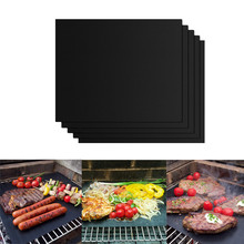 BBQ Grill Mat Barbecue outdoor Baking Non-stick Pad Reusable Teflon Cooking Plate 40 * 33cm For Party PTFE Grill Mat Tools New 1pc new ptfe teflon made iron plate cover shoe 230 170mm l230 w170 t1 0 mm xl