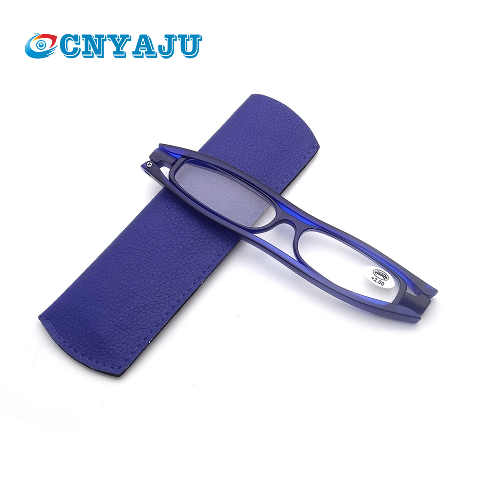CNYAJU 360 Reading Glasses Diopter Men Women Foldable Presbyopic Reading Glasses+1.0 1.5 2.0 2.5 3.0 3.5 With Case
