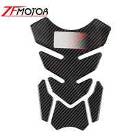 3D carbono Protector de almohadilla de depósito para motocicleta etiqueta para Kawasaki Z250 Z300 Z650 Z750 Z800 Z900 Z1000 Z1000SX