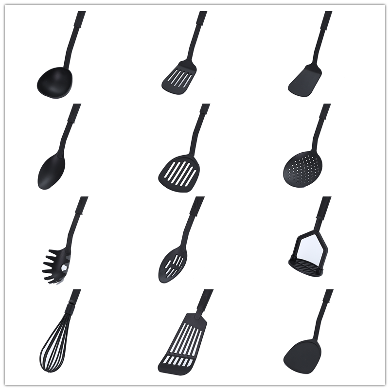 1 Spoon Colander Silicone Spatula Kitchen Tool Cookware Shovel Tool High Temperature Non-stick Soup Spoon Special Cooking Shovel