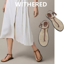 Withered summer shoes women sandals ins blogger indie folk v