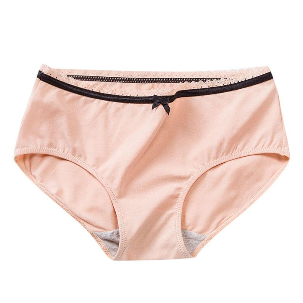 Women's Cotton Underwear Low Rise Full Briefs Hipster Panties Women's Panties Comfort Underwear Skin-friendly Briefs For Women