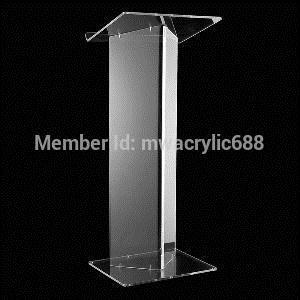 Free Shipping Hot Sell Deluxe Beautiful Modern Design Cheap Clear Acrylic Lectern Podium Plexiglass