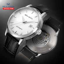 Seagull bracelet mécanique pour hommes, montre avec calendrier daffaires, étanche 50m, boucle en cuir, 819.613