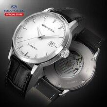 Seagull męskie mechaniczne zegarki na rękę kalendarz biznesowy zegarek 50m wodoodporna skórzana klamra męskie zegarki 819.613