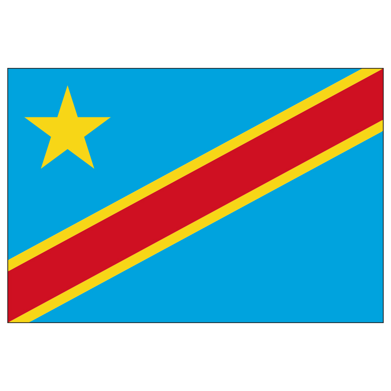Free  Shipping  Xvggdg   90 X 150cm   Congo  Flag Banner Hanging National Flags Congo  Home Decoration