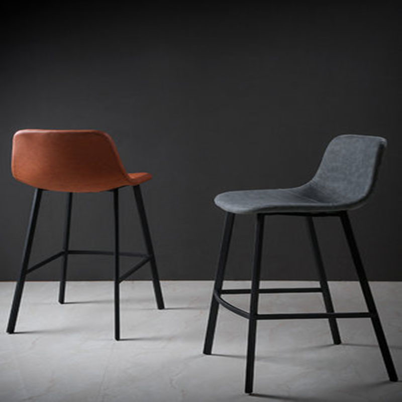 Nordic Iron Barstool Casual Cafe Back Home Simple Metal Bar Stool Bar Stool Restaurant Chairs